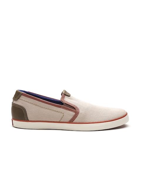 Clarks Men Beige Slip-On Sneakers