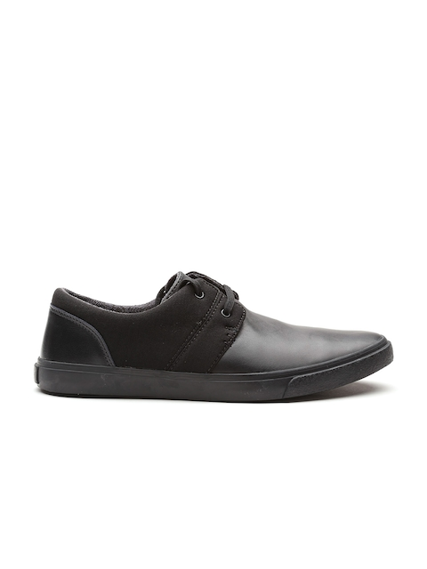 Clarks Men Black Leather Sneakers