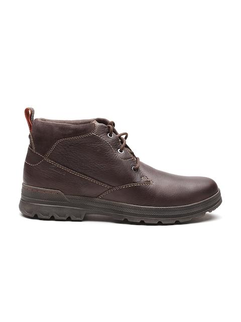 Clarks Men Coffee Brown Flat Boots