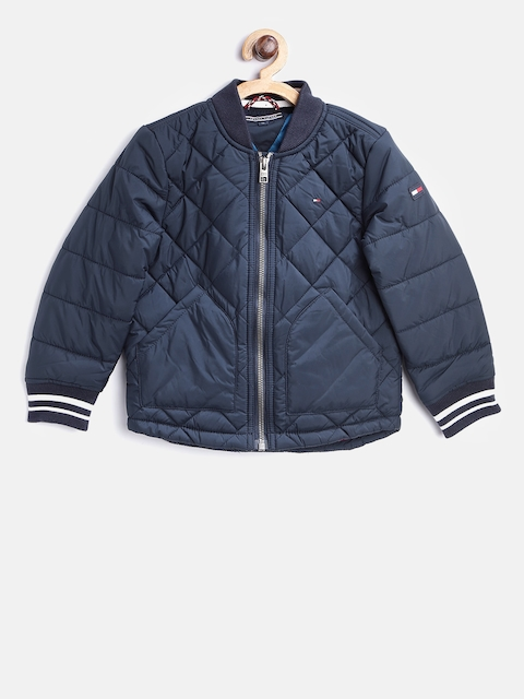 Tommy Hilfiger Boys Navy Solid Quilted Jacket