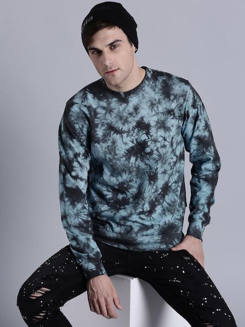 Kook N Keech Men Blue & Charcoal Grey Printed Sweatshirt