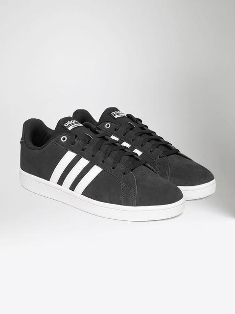 Adidas NEO Men Black CF Advantage Suede Sneakers