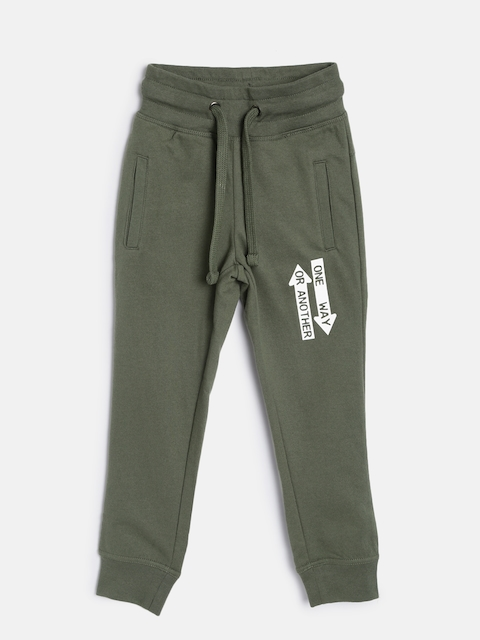 Flying Machine Boys Olive Green Joggers