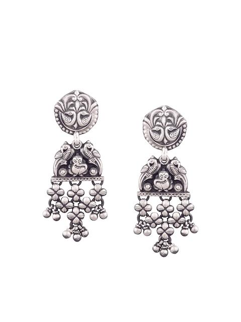 ahilya Sterling Silver Circular Drop Earrings