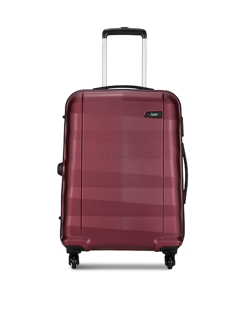 Skybags Unisex Maroon Medium Trolley Suitcase