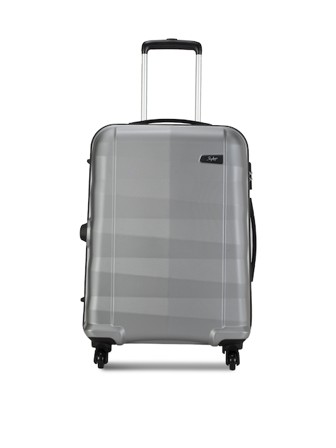 Skybags Unisex Silver-Toned Medium Trolley Suitcase