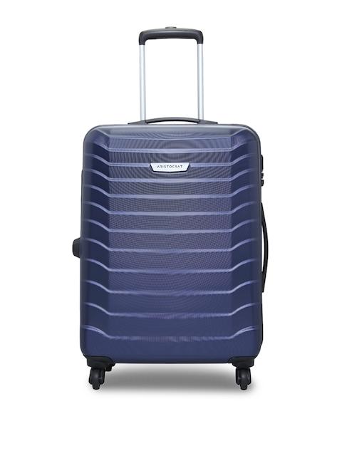 Aristocrat Unisex Blue Medium Trolley Suitcase
