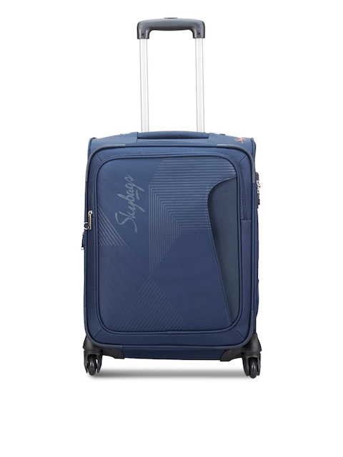 Skybags Unisex Blue Small Trolley Suitcase