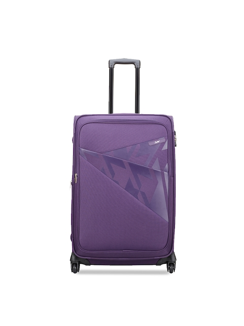 Skybags Unisex Purple Large Trolley Bag