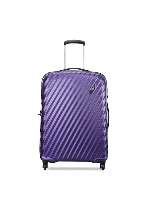 Skybags Unisex Purple Large Trolley Suitcase
