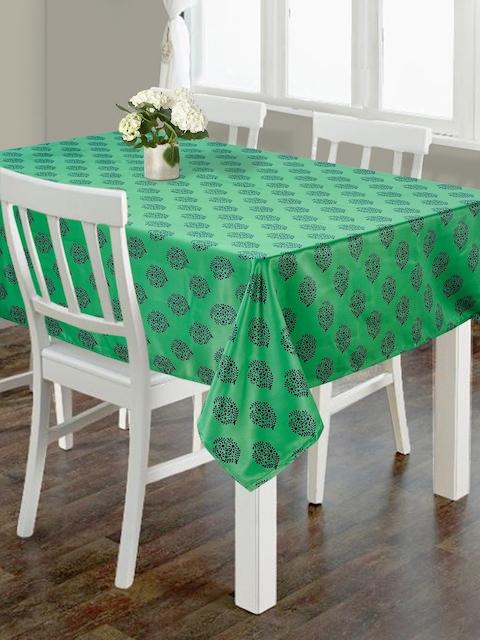 SWAYAM Green Rectangular 88 x 50 Polycotton Table Cover