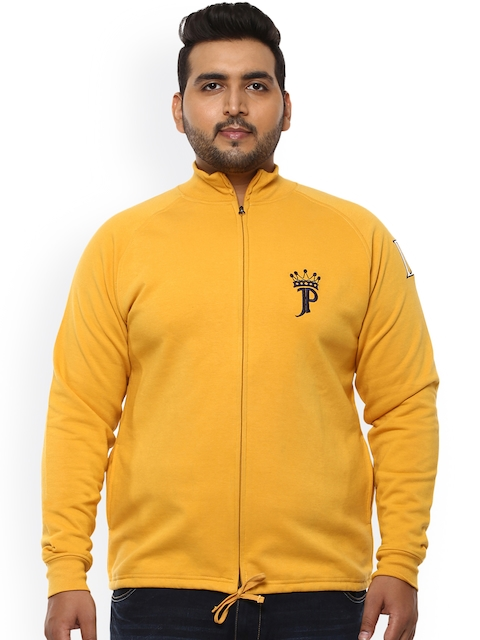 John Pride Men Yellow Solid Sweatshirt
