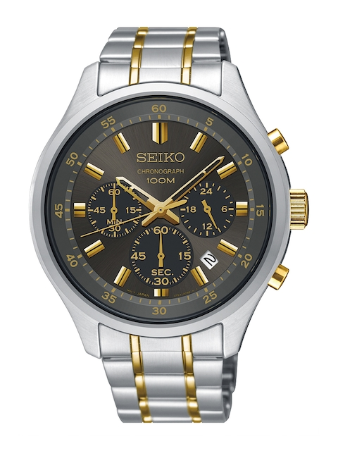 SEIKO Men Black Chronograph Analogue Watch SKS591P1