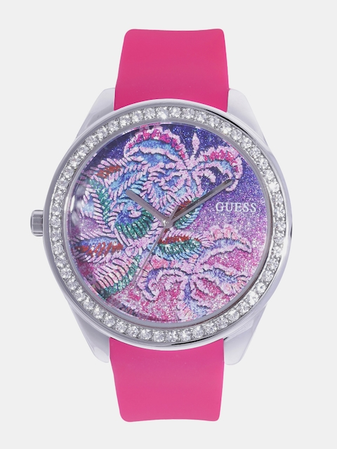 GUESS Women Pink Printed Analogue Watch W0960L1_OR