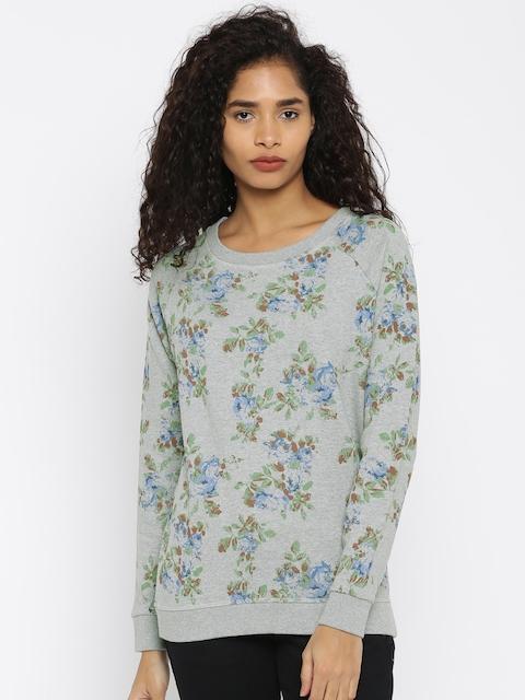U.S. Polo Assn. Women Women Grey Printed Pullover Sweater