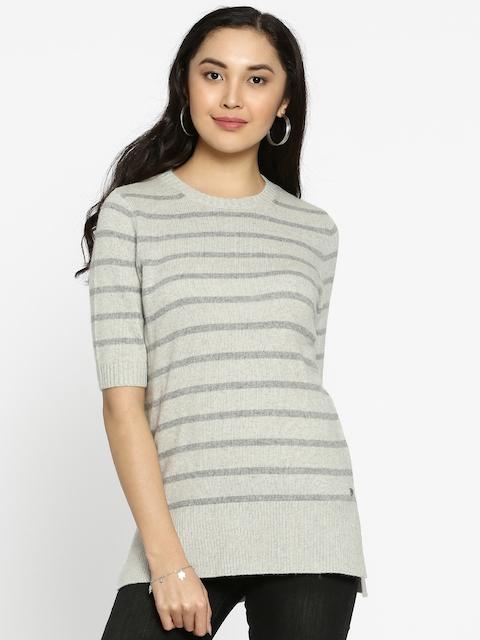 U.S. Polo Assn. Women Women Grey Striped Pullover