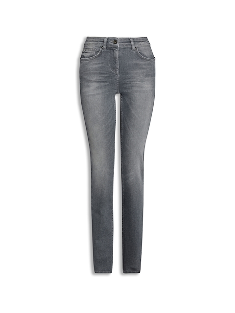next Women Grey Slim Fit Mid-Rise Clean Look Jeans
