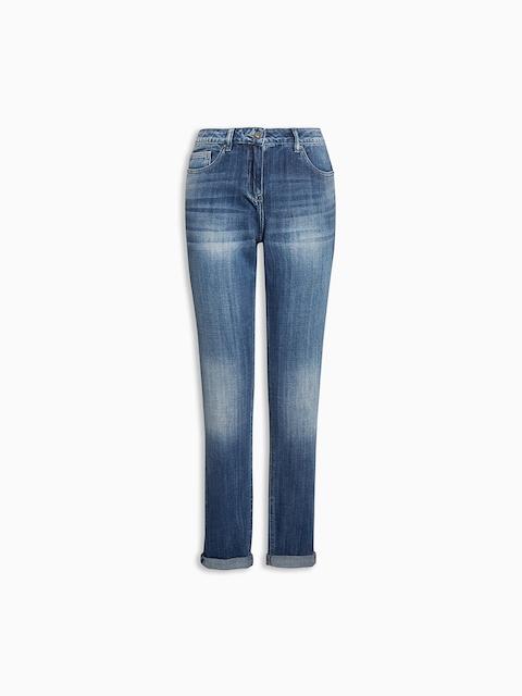 next Women Blue Regular Fit Mid-Rise Clean Look Jeans