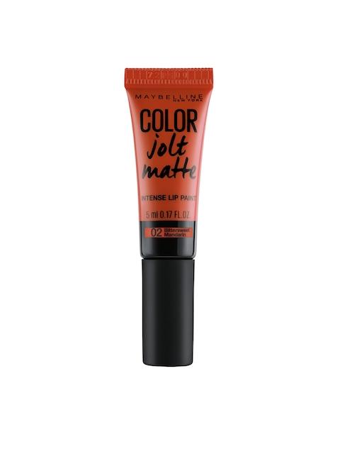 Maybelline Color Jolt Matte Bittersweet Mandarin Lip Paint 02
