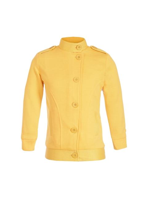naughty ninos Girls Yellow Solid Sweatshirt