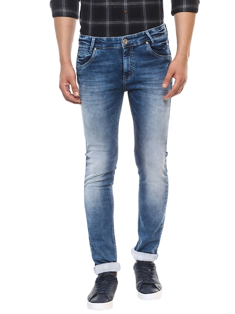 Mufti Men Blue Slim Fit Mid-Rise Clean Look Stretchable Jeans