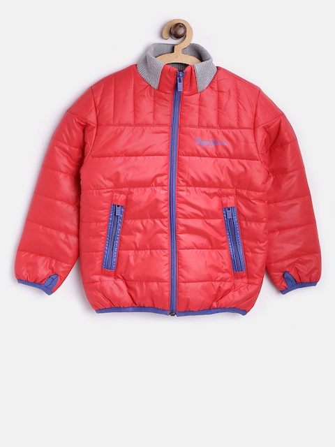 Pepe Jeans Boys Red Solid Puffer Jacket