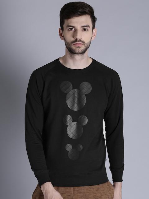 Kook N Keech Disney Men Black Printed Sweatshirt