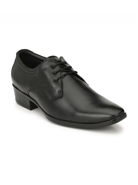 Prolific Men Black Derby Shoes