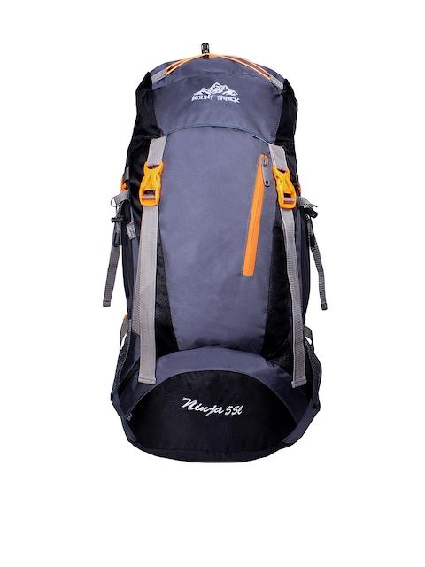 MOUNT TRACK Ninja Unisex Black & Grey Rucksack with Rain Cover