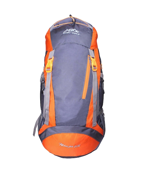 MOUNT TRACK Ninja Unisex Orange & Grey Rucksack with Rain Cover