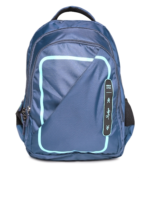 Skybags Unisex Navy Textured Laptop Backpack