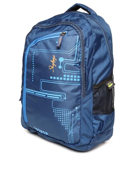 Skybags Unisex Navy Printed Backpack