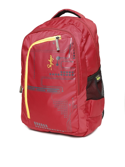 Skybags Unisex Red Printed Backpack
