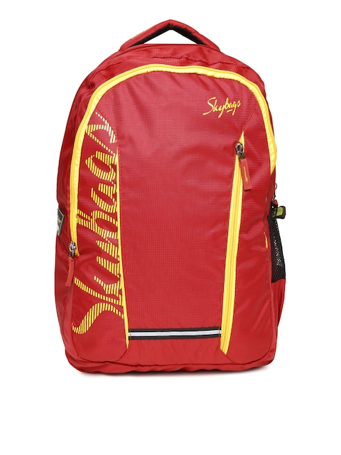 Skybags Unisex Red Brand Logo Print Backpack
