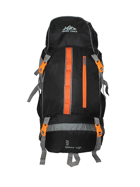 MOUNT TRACK Gear Up Unisex Black & Grey Rucksack with Rain Cover