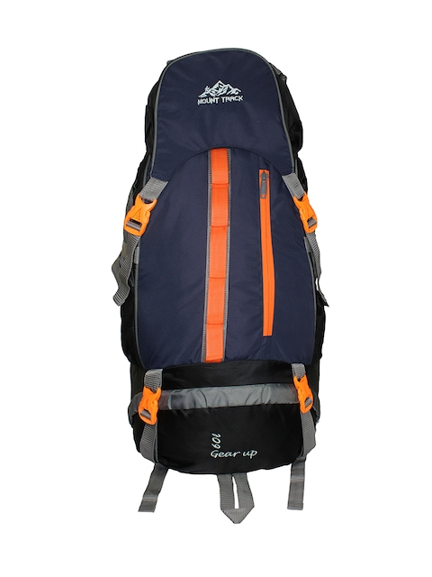 MOUNT TRACK Gear Up Unisex Navy & Grey Rucksack with Rain Cover
