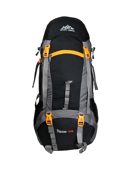 MOUNT TRACK R14 Discover Unisex Black & Grey Rucksack with Rain Cover