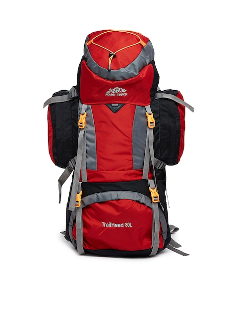 MOUNT TRACK Unisex Red & Black Rucksack