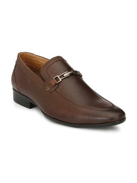 Alberto Torresi Men Brown Leather Slip-Ons