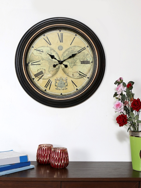 Athome by Nilkamal Beige Dial Analogue 50.2 cm Wall Clock
