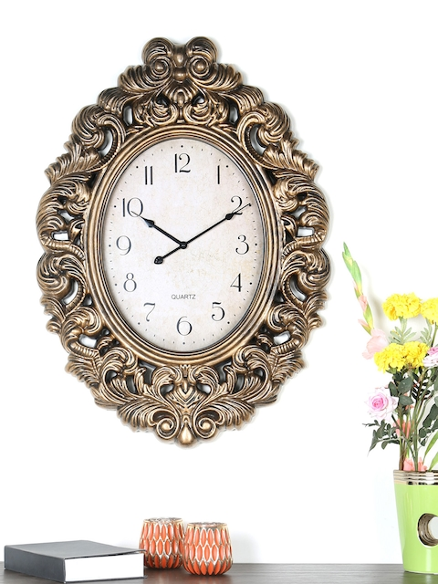 Athome by Nilkamal White Dial Analogue 83.4 cm x 60.5 cm Wall Clock