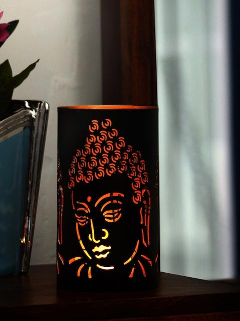 Athome by Nilkamal Votive Buddha Metal Candle Holder