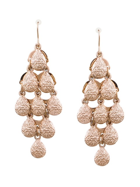 Being Human Gold-Plated Contemporary Drop Earrings