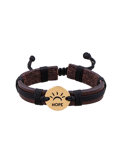 Being Human Jewellery Men Brown Leather Bracelet