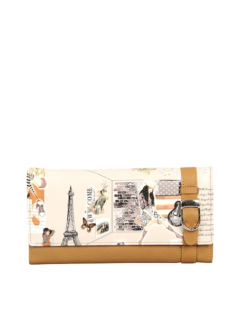 Leather Zentrum Women Multicoloured Printed Genuine Leather Two Fold Wallet