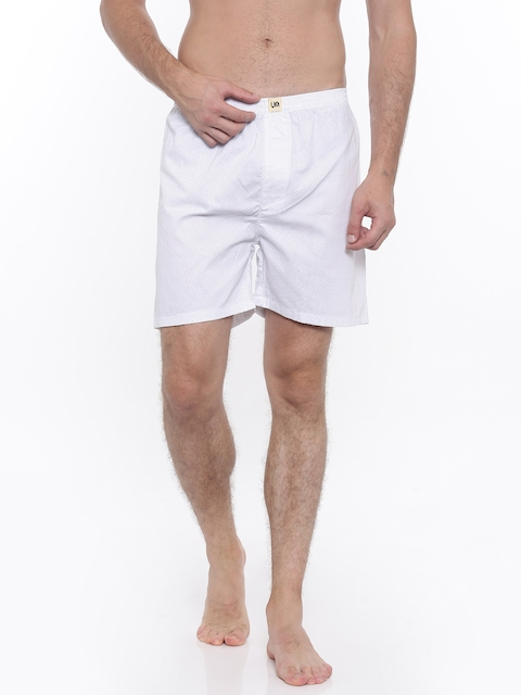 Urban Dog Men White Printed Boxers UDBX85