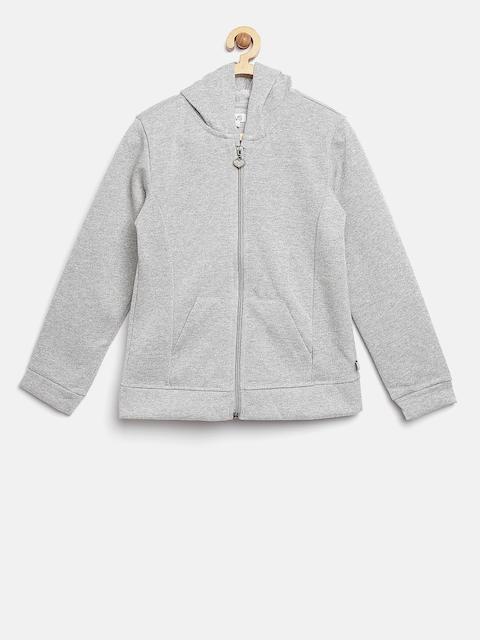 OVS Girls Grey Melange Shimmer Hooded Sweatshirt