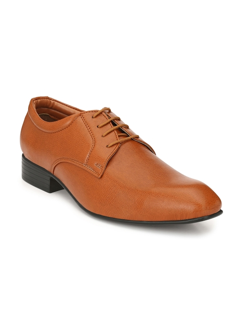 Guava Men Tan Brown Formal Derbys