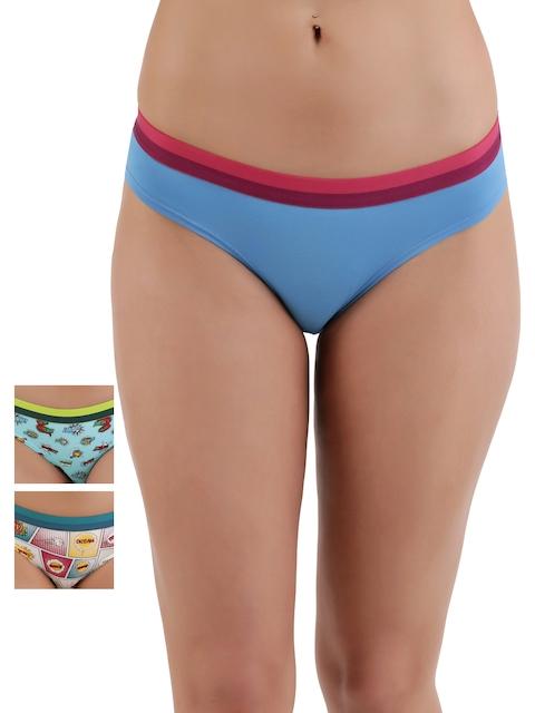 Zivame Pack of 3 Bikini Briefs ZI00Z21214PBLGR