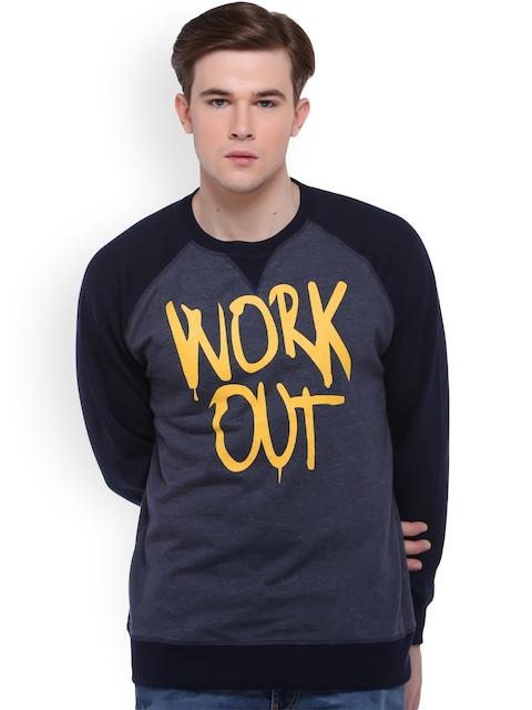 Club York Men Navy Blue Printed Sweatshirt